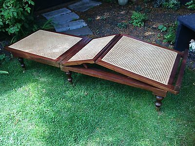 Campaign Mahogany Day Bed 20th Century reproduction of 18th Century design. VGC