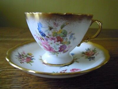Hammersley Lady Patricia Tea Cup & Saucer Rich Gold Trim <New> Perfect