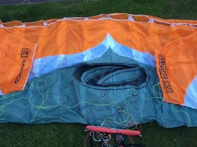 Mk 1 Ozone Access 8m powerkite with lines and bar.