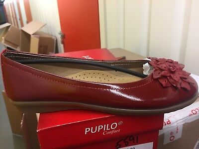 Ladies Red Patent Leather Shoes Size 4