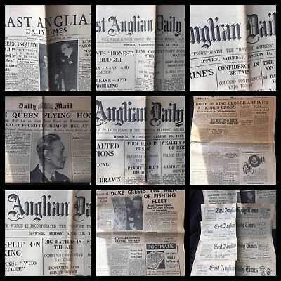 Vintage 1950's East Anglian Daily Times Evening Star Collection X 8