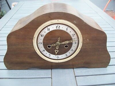 Vintage Enfield wind up mantle clock (with key) made in England