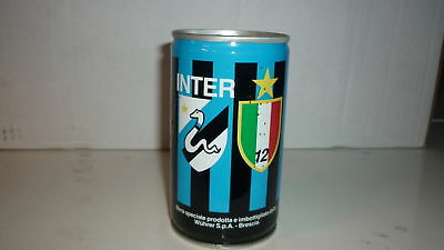 OLD ITALIAN BEER CAN, 1980s INTER MILAN WUHRER SPA ITALY BIRRA STEEL CAN