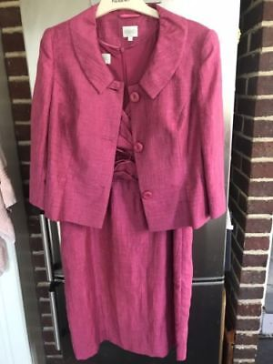 KALIKO Mother of the bride stunning pink evening Dress suit size UK14