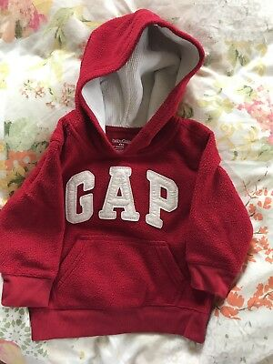 Boys fleece Gap Hoodie 12-18 Months Red