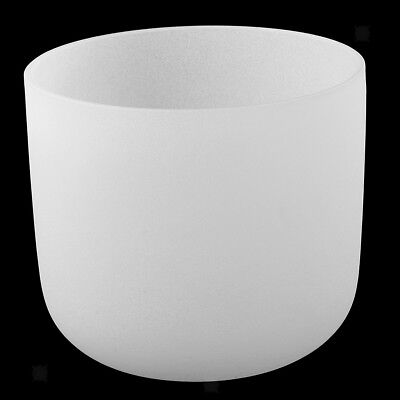"""Frosted Quartz Crystal Singing Bowl C Note Root Chakra Excellent Quality 8"""""""