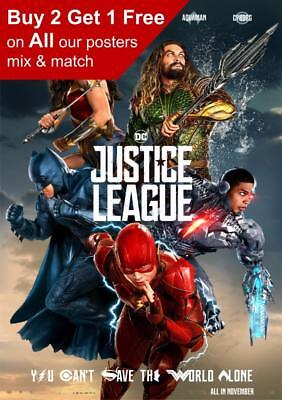 Justice League Movie Poster 2017 A5 A4 A3 A2 A1