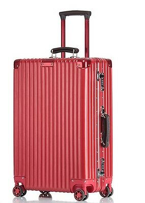 "26"" Red Thickness  27cm TSA Lock Universal Wheel ABS+PC Travel Suitcase Luggage"
