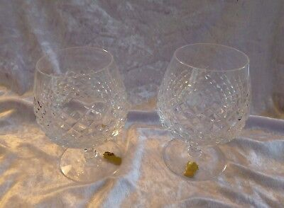Two Waterford Crystal Glandore Brandy Glasses - 1970's                   (EC)