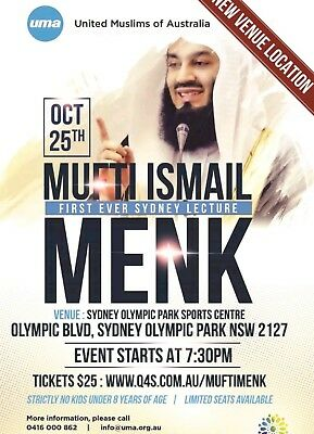 Mufti Menk First Ever SYD Tour 2017 Female Ticket x 1