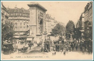 Carte Postale Paris - Le Boulevard Saint-Denis (#15349)