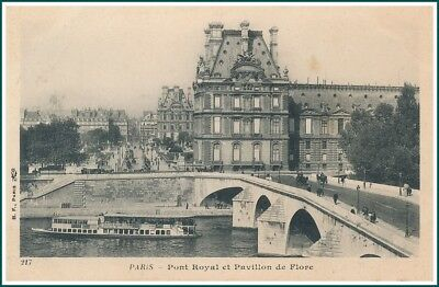 Carte Postale Paris - Pont Royal et Pavillon de Flore (#15845)