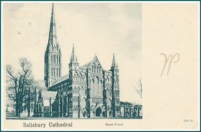 Postcard Salisbury - Cathedral West Front (#14532)