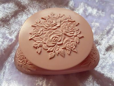 Vintage Avon Pink Rose Compact - Empty