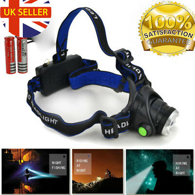 CREE XM-L T6 LED Rechargeable Head Torch Zoomable Headlamp Bike Light Lamp 18650