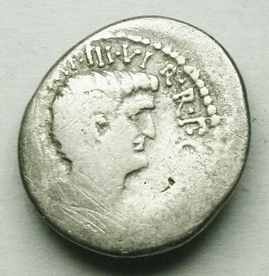 Very Rare Mark Antony With Octavian Ar Denarius (190Y)