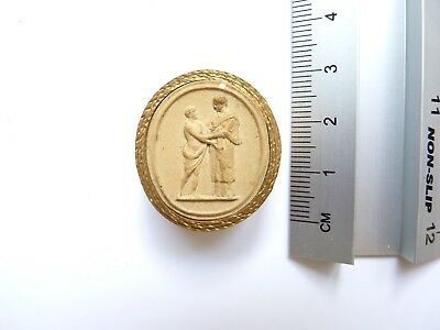 Anitque Grand Tour Plaster Cameo 018 c19th
