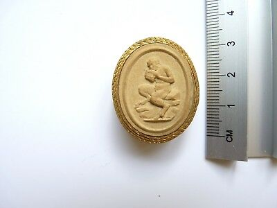 Anitque Grand Tour Plaster Cameo 012 c19th