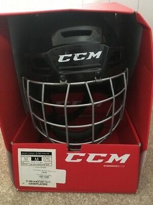 CCM Ice Hockey Helmet With Face Guard RES 100 Black Size M (55-59 cms)