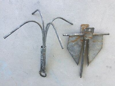 2 x Anchor's - Both Galvanised - One Reef & One Sand Anchor