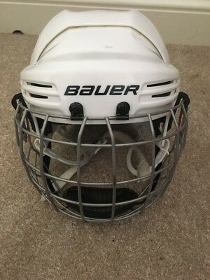 Bauer Ice Hockey 2100 Helmet White Size Jnr. (50-55 cms) With Face Guard