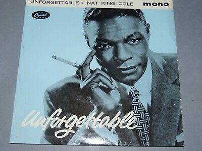 """Nat King Cole * Unforgettable * 4 Track Ep * 7"""" Ep"""