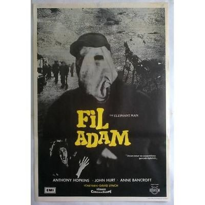 THE ELEPHANT MAN - 80's - ORIGINAL TURKISH MOVIE POSTER - MEGA RARE - LYNCH