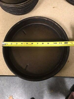 "12 "" Pizza Pans - Well Seasoned - Perfect At Home - Deep Pan - 2 PAN LOT"