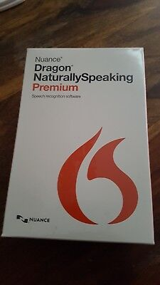 Nuance Dragon NaturallySpeaking Premium 13.0. NEW BOXED & HEADSET K609X-W00-13.0