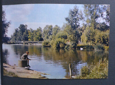 Vintage British Postcard - Thames At Pangbourne, Berkshire