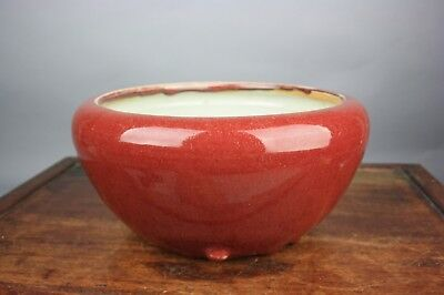 18th-19th C. Chinese Copper-Red-Glazed Brush Washer