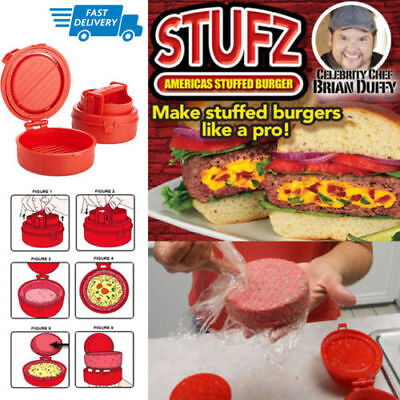 Burger Press Patty Maker Hamburger Grill BBQ Juicy Cookware Food Preparation New