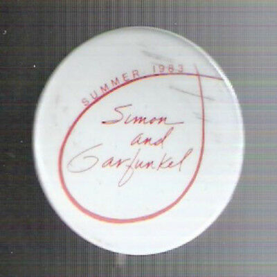 "Summer 1983 1.125"" Diameter Simon & Garfunkel Tour Pinback Button"