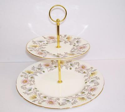 """Vintage E.Brain Foley """"Somerset"""" 2 Tier Cake/Afternoon Tea Stand.."""