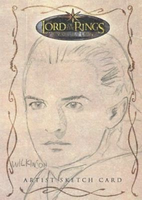 Lord of Rings Evolution Sketch Card by Sarah Wilkenson Legolas