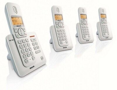 Philips SE 245 Telephone Phone 5 Handsets New Batteries Excellent Condition