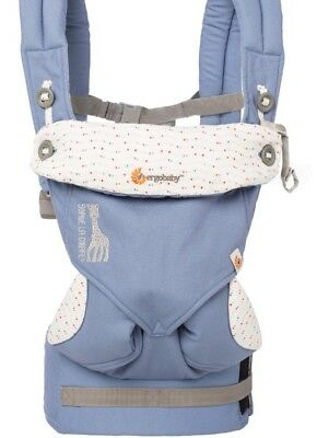 New ERGO BABY Four Position 360 Baby Carrier- SOPHIE LA GIRAFE