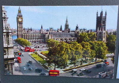 Vintage British Postcard - Parliament Square, London