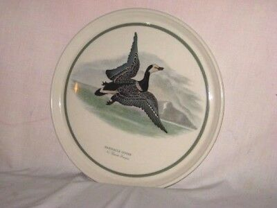 Portmeirion Birds of Britain Charger Plate Barnacle Goose England Branta 12 in
