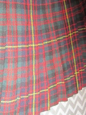 "Men's Vintage Red Tartan Wool Kilt 28-30"" Waist"
