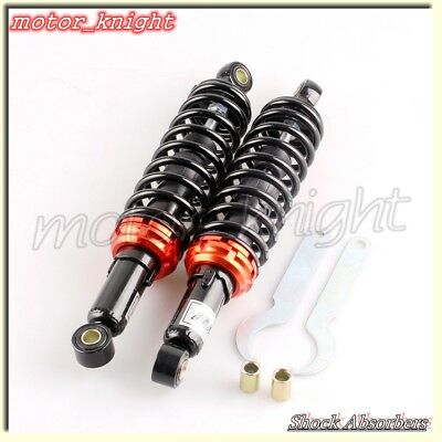 "Black  12.5"" 320mm Pair Rear Shock Absorbers Replacement For Suzuki GS 125 150"