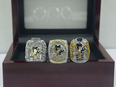 3pcs 2009 2016 2017 Pittsburgh Penguins Stanley Cup Championship ring !!!