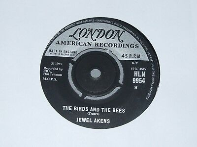 """JEWEL AKENS """" THE BIRDS AND THE BEES """" 7"""" Vinyl 1965"""