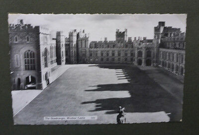 Vintage British Postcard - Quadrangle, Windsor Castle