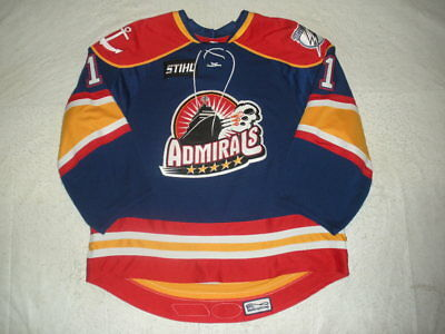 2007-08 Ryan Munce Norfolk Admirals Game Used Worn AHL Hockey Jersey MeiGray