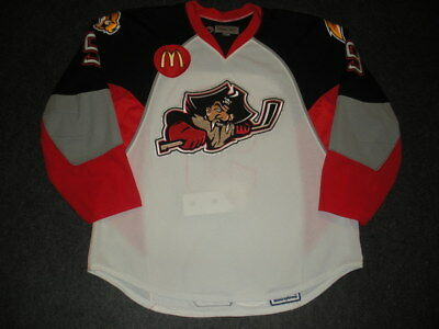 2008-09 Mike Card Portland Pirates Game Used Worn AHL Hockey Jersey! MeiGray