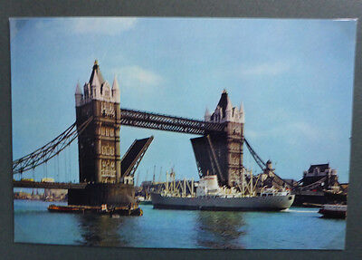 Vintage British Postcard - Tower Bridge, London #3