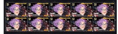 Dame Edna Everage Aust Icon Strip Of 10 Mint Stamps 2