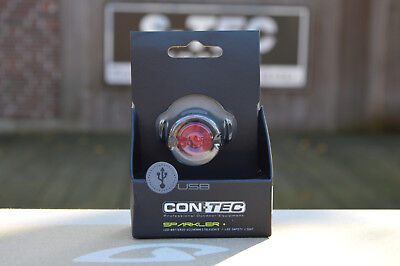 CONTEC Sparkler+Sports LED Safety Light Red 15 Lumen USB Chargeable Rear Light