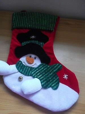 Christmas Stocking with Snowman